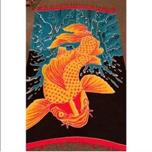 Colorful koi fish oriental tapestry 💕